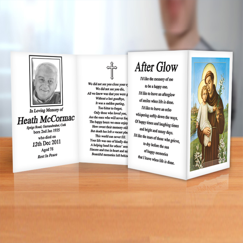 Cork Memorial Cards & Bookmarks